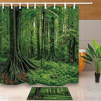 Tropischen Regenwald Pflanzen Decor Palm Blatter Mit Exotischen Baum
