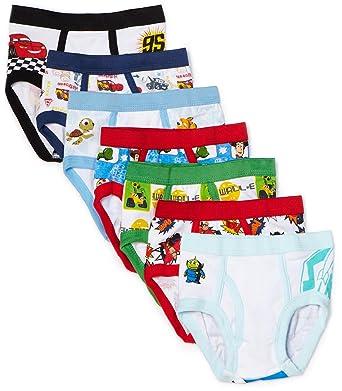 b52300d1d61 Amazon.com  Disney Little Boys  Pixar 7-Pack Brief  Briefs Underwear   Clothing