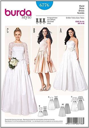 Burda Schnittmuster Kleid b6776 Hochzeit und Abend: Amazon.de: Küche ...