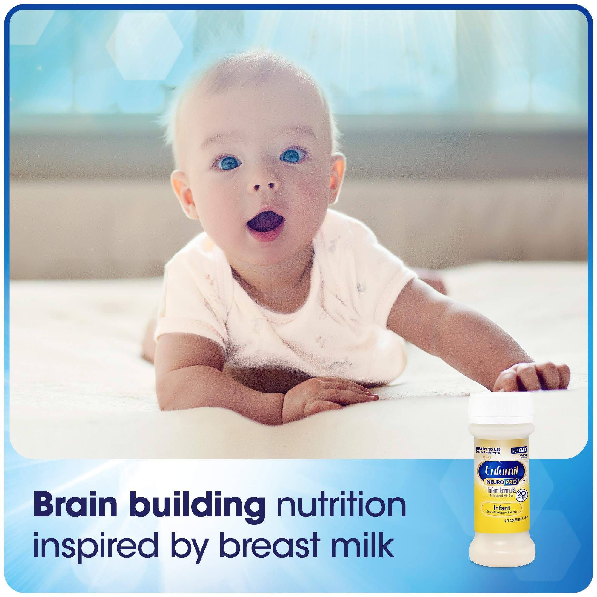 Enfamil NeuroPro Infant Formula - Brain Building Nutrition Inspired by Breast Milk - Ready to Use Liquid, 8 fl oz (24 count) Packaging May Vary by Enfamil (Image #7)
