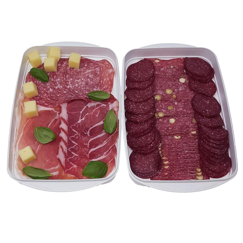 in plastica Biologica Greenline Contenitori per congelatore Set da 8 contenitori per congelatore 1 l Senza BPA con Coperchio qualit/à Ecologica