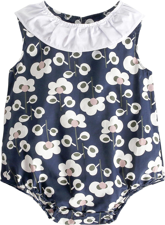 Sanlutoz Carina Bambino Ragazze Fiore pagliaccetto tuta outfits Bambino piccolo Bambino Ragazze cotone Capi di abbigliamento