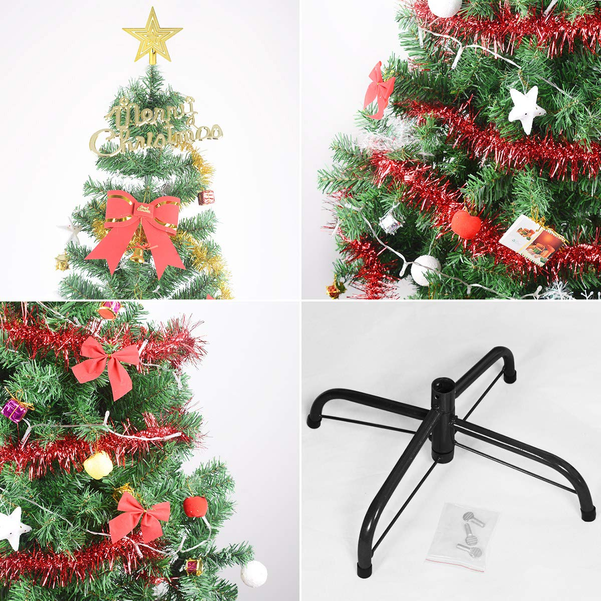 PVC Atificial Christmas Tree 5.9Feet//1.8M Green Gift Hunter SD-0015 LED Lights/&Decoration 5.9 ft ABJ