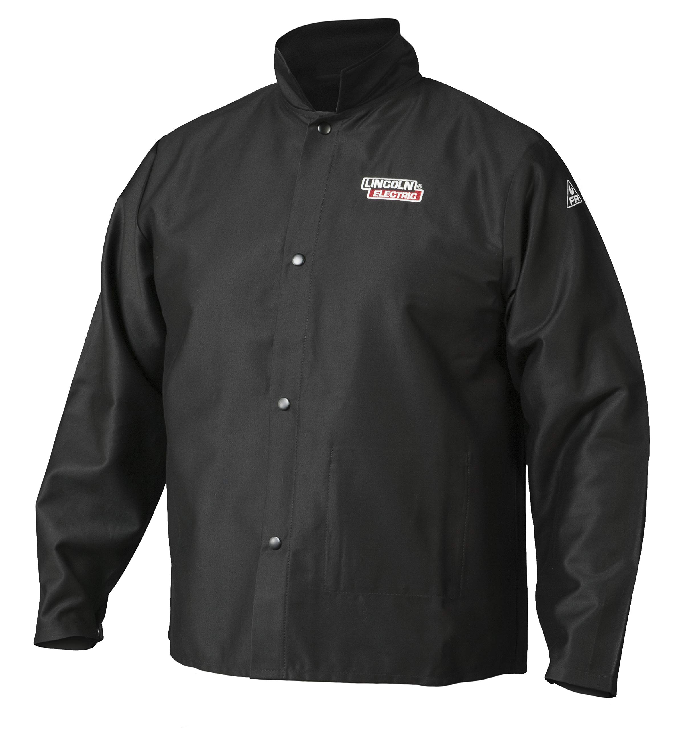 Lincoln Electric  Premium Flame Resistant (FR) Cotton Welding Jacket   Comfortable   Black   XXXL   K2985-XXXL
