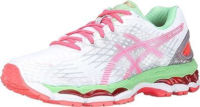 ASICS Zapato para correr Gel-Nimbus 17 femenino, blanco / coral / manzana caliente, 5,5 M EE. UU.: Amazon.es: Zapatos y complementos