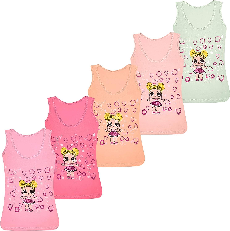 PiriModa Camiseta Interior de Tirantes para niña - Hecha de algodón Suave y cómodo - Diferentes Motivos - Disponible en Tallas de 2 a 13 años - Pack de 5 Unidades: Amazon.es: Ropa y accesorios