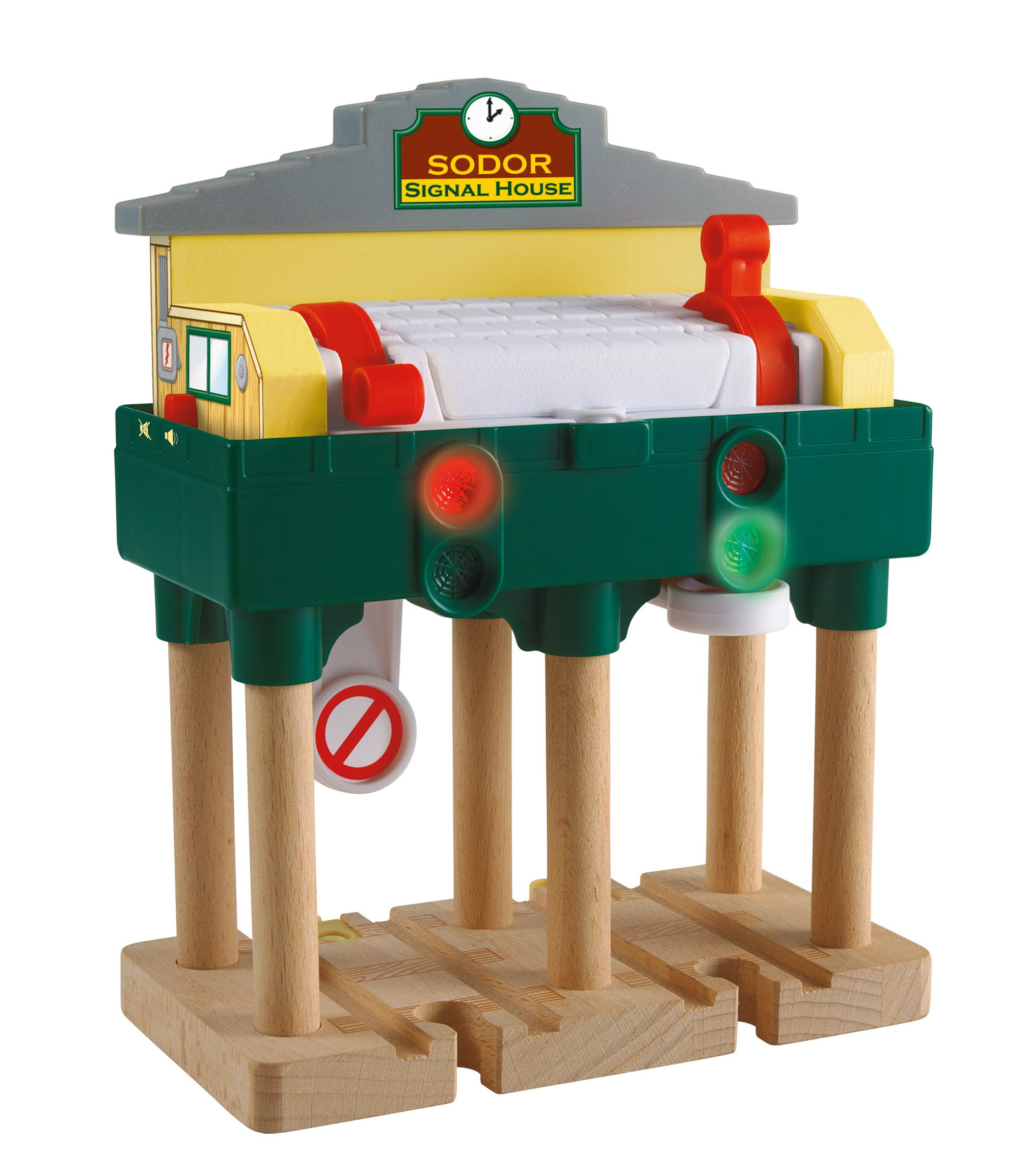 Thomas & Friends Fisher-Price Wooden Railway, Deluxe Over-The-Track Signal - Battery Operated