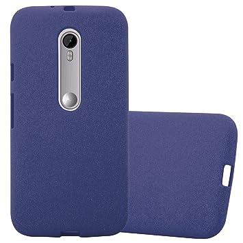 Cadorabo Funda para Motorola Moto G3 en Frost Azul Oscuro ...