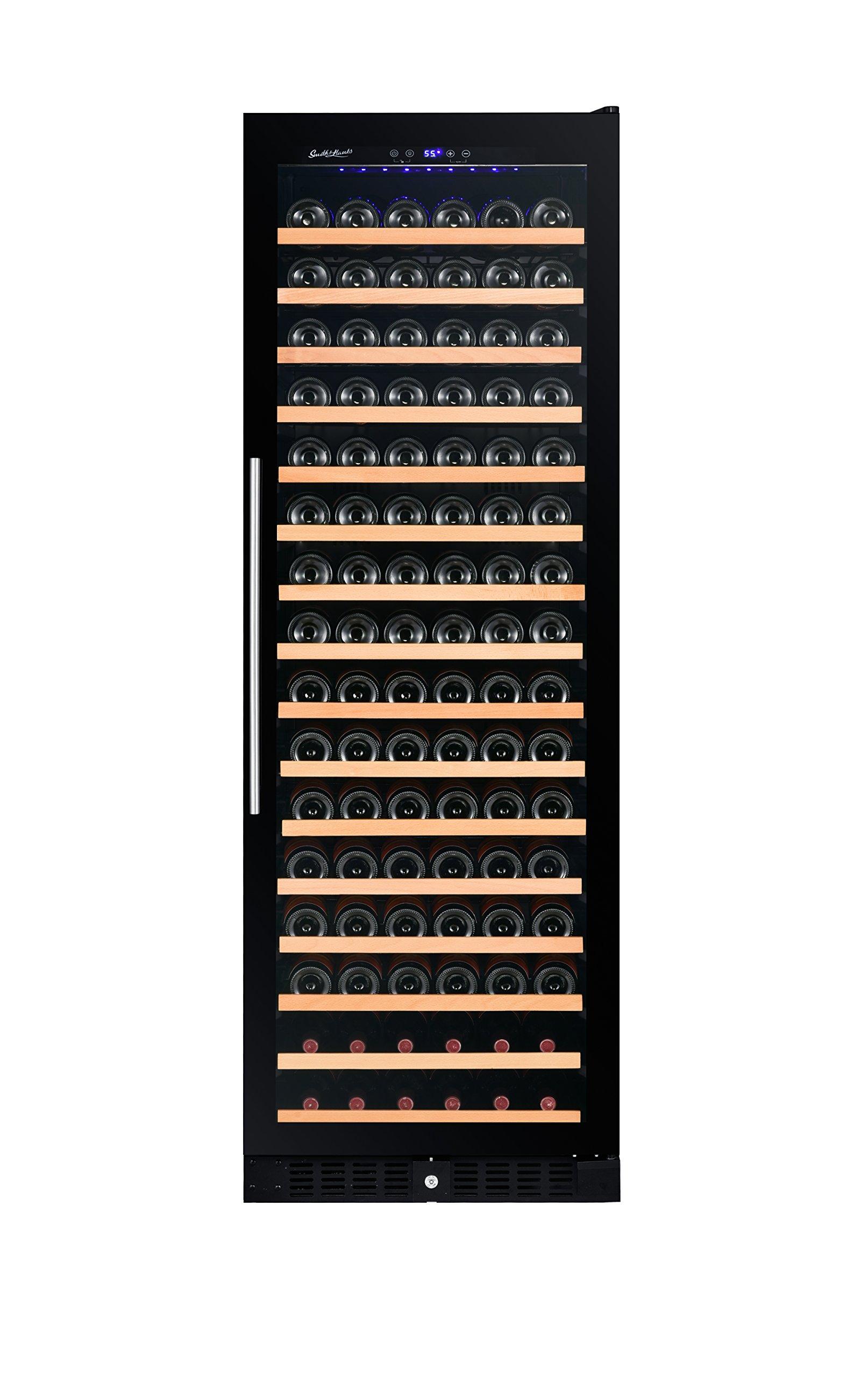 166 Bottle Wine Cooler, RW428SRG, Single Zone, Smoked Glass Door