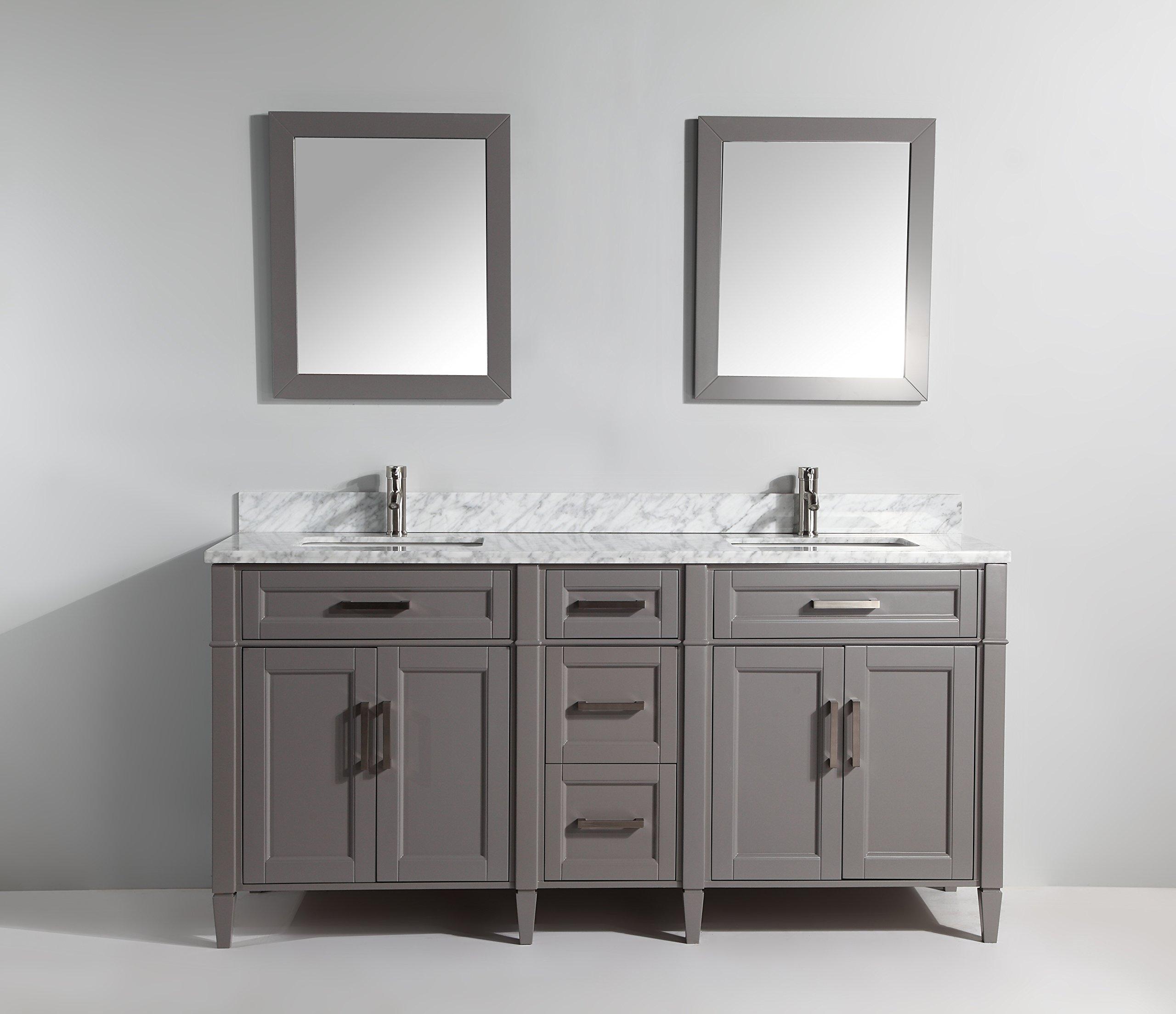 unbelievable eco friendly bathroom vanities. Vanity Art 72 Inch Bathroom Set with Carrara Marble Stone Free  Mirror VA2072 Best Rated in Vanities Helpful Customer Reviews