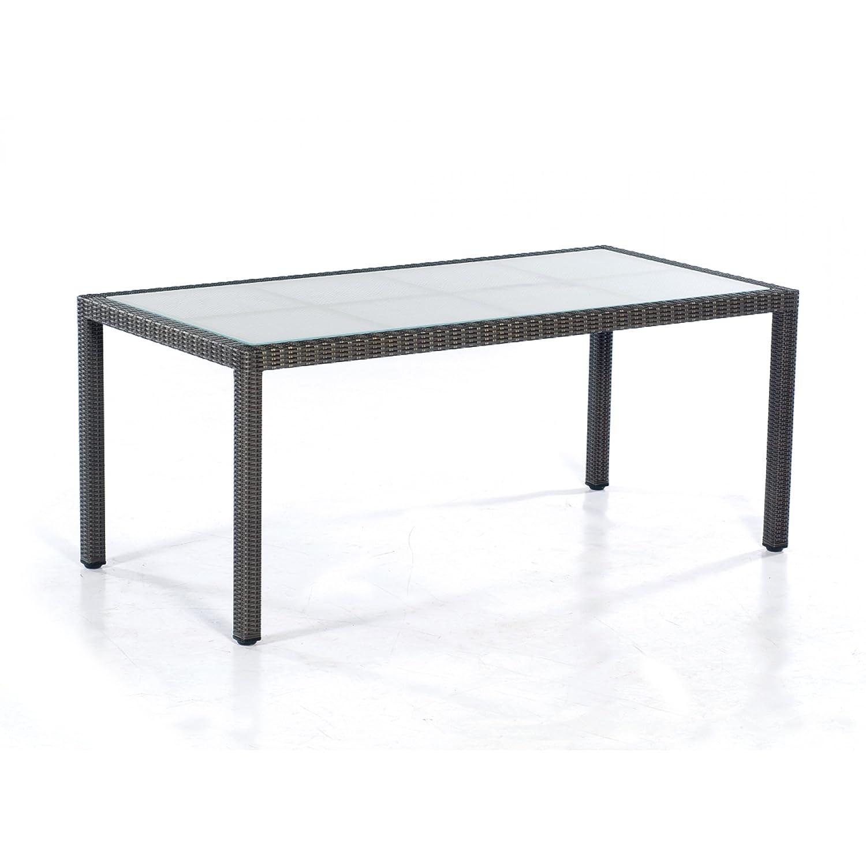 Sonnenpartner Tisch Glastisch Vera Cruz 160x90 cm graphit-schwarz 80061287