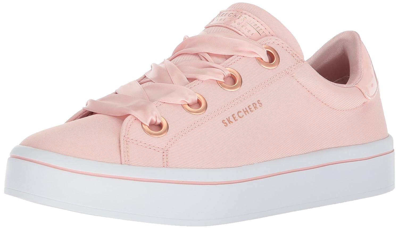Skechers Women's Hi-Lite-Satin Canvas Sneaker B07215YMDM 8.5 B(M) US|Light Pink