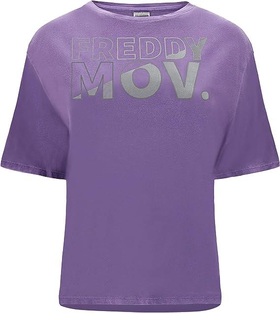 Freddy Camiseta con Manga Kimono y Estampado MOV. - Violeta Brillante Pigmentdyed - Small: Amazon.es: Ropa y accesorios