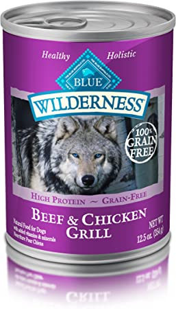 Blue Buffalo Wilderness Natural Adult Wet Dog Food - Best Wet Dog Food for Diabetic Dogs