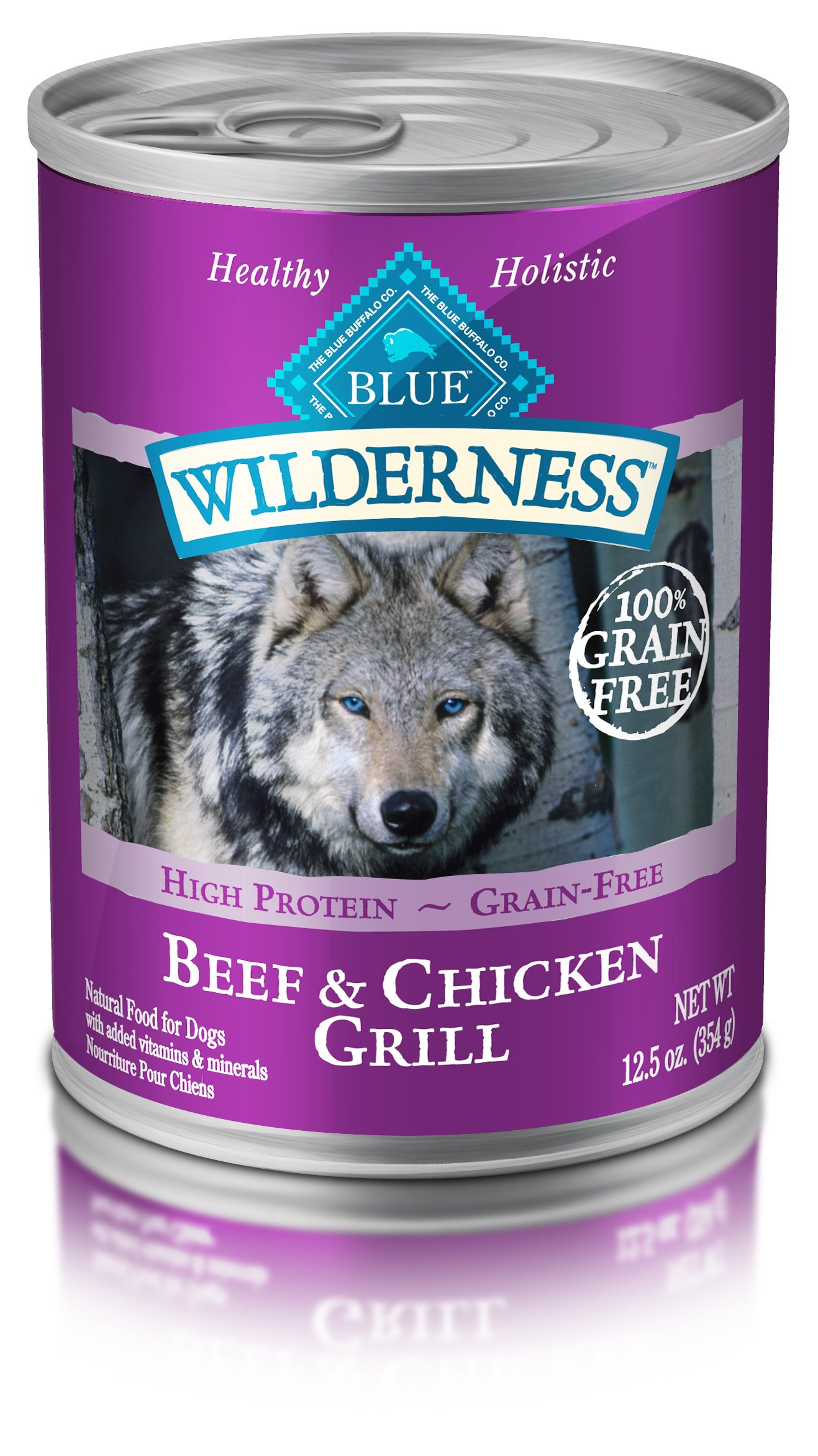Blue Buffalo Blue Wilderness Beef & Chicken Grill Canned Dog Food(Pack of 12) by Blue Buffalo