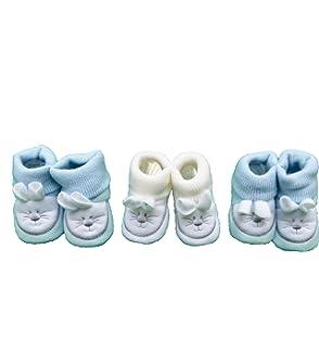 48126504dbddb FC ESHOP - 3 paires de chaussons naissance - bébé garçon  Amazon.fr ...