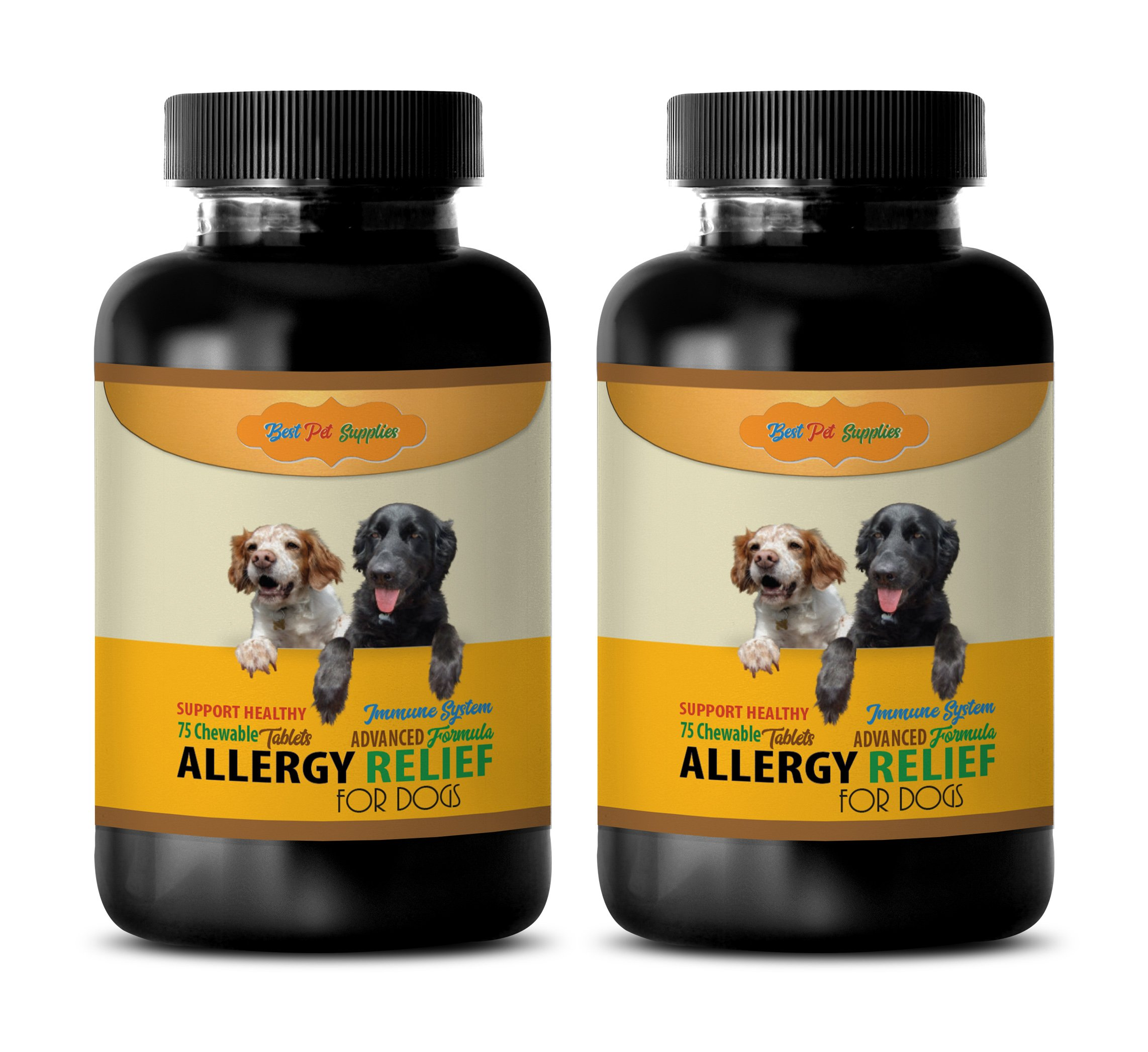 Dog Anti Itch Pills - Best Dog Allergy Relief - GET RID of ITCHING - Immune Support - Chews - Nettle for Dogs - 150 Treats (2 Bottles) by BEST PET SUPPLIES LLC