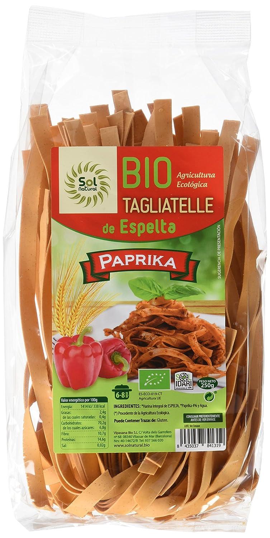 Sol Natural Tagliatelle de Espelta con Paprika - Paquete de 10 x 250 gr - Total: 2500 gr: Amazon.es: Alimentación y bebidas