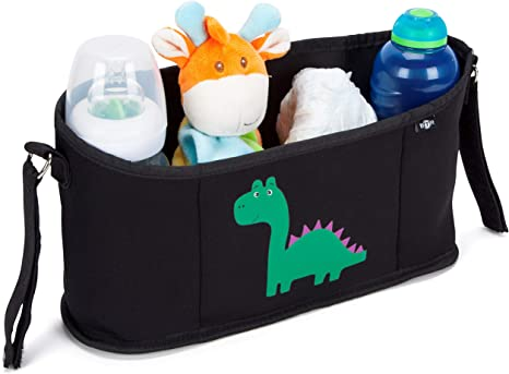 licorne ou girafe Organiseur//Organisateur//Sac de rangement noir en n/éopr/ène BTR pour poussette ou landau Adorables motifs dinosaure