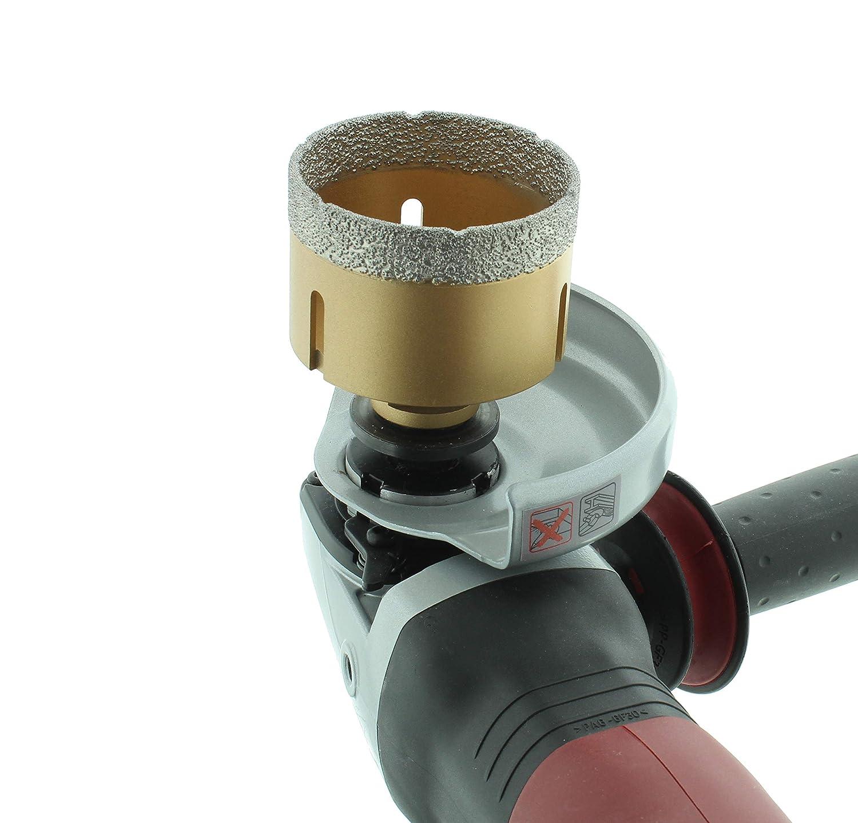 M14-Fliesenbohrkrone Feinsteinzeug Diamant-Bohrkrone passend f/ür Winkelschleifer BTEC 35 mm