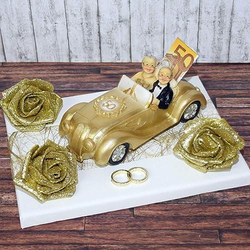 Geld Geschenk Zur Goldenen Hochzeit Mit Spardose Auto
