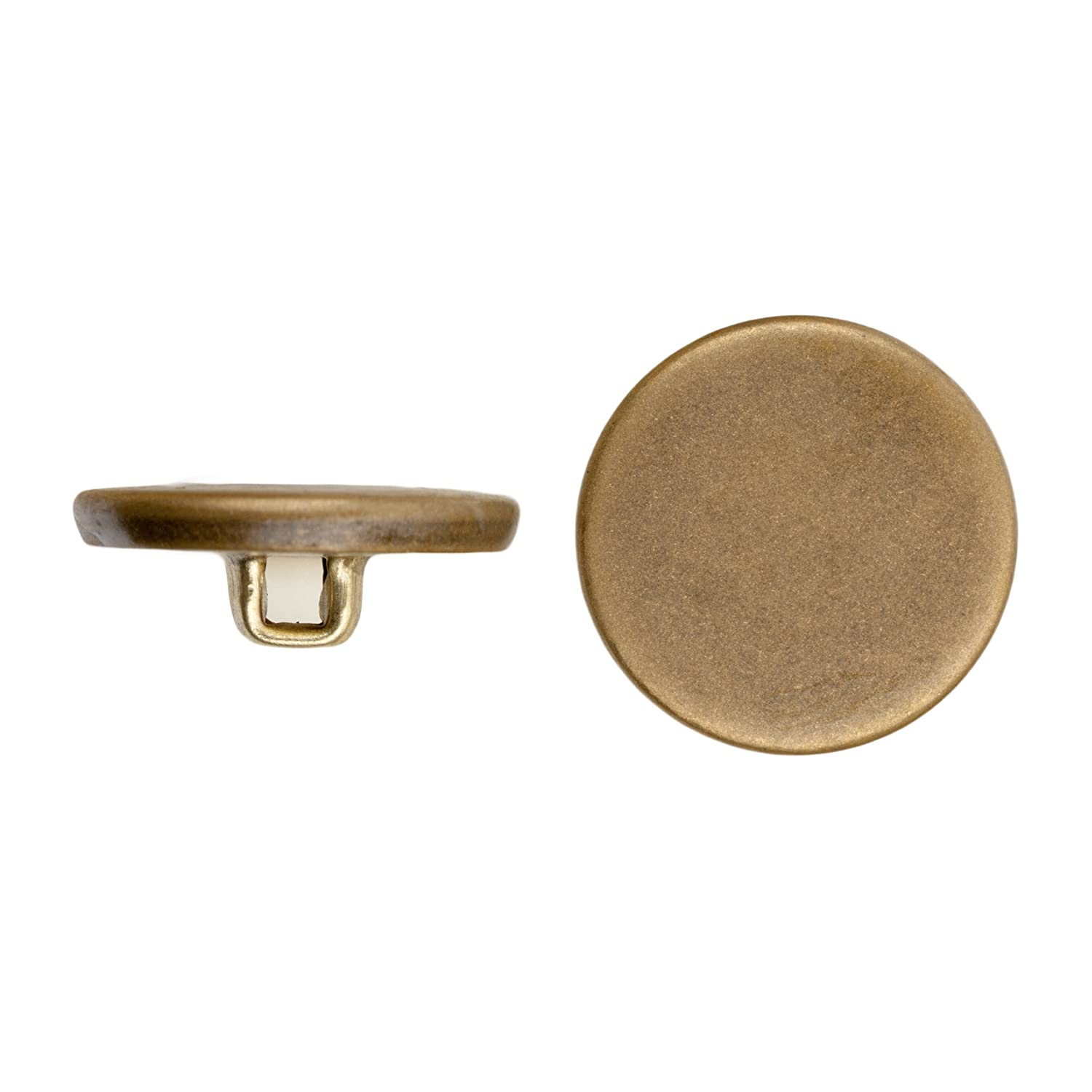 45-Piece C/&C Metal Products Corp 5001 Flat Metal Button Size 33 Colonial Gold Finish