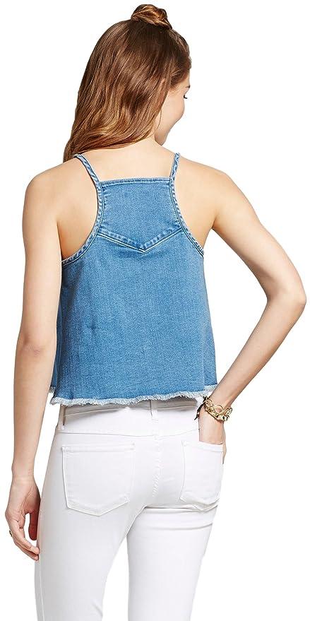 19e705fc9e Mossimo Women s Denim Woven Tank Top at Amazon Women s Clothing store