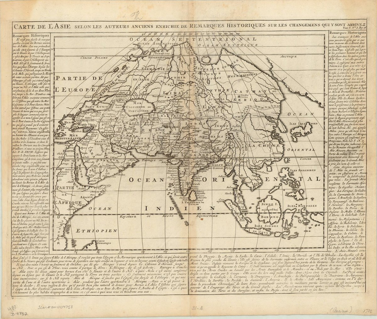 Amazoncom Historic Map Asia 1732 Carte De Lasie Selon