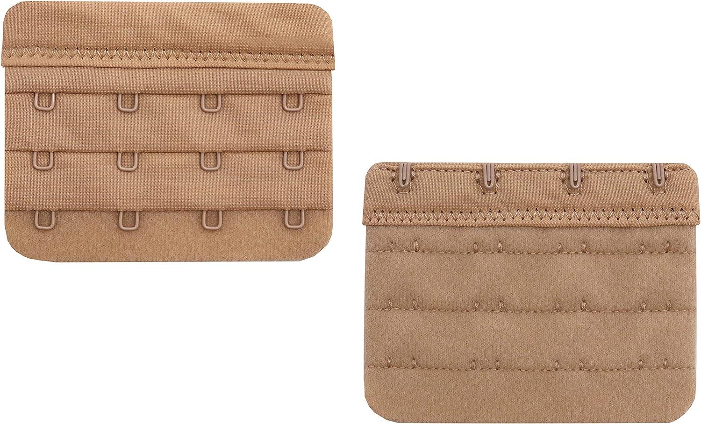 4 pcs Pack Bra Extender 4 Hooks,Soft and Comfortable Bra Strap Extender