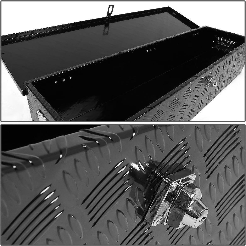 DNA Motoring TBOX-T1-38-ALU-BK 39 x13 x10 Aluminum Truck Tool Storage Box w Lock Keys Black