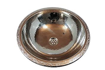 Exklusive Waschbecken wahabita rund kupferwaschbecken marokko waschbecken spülbecken