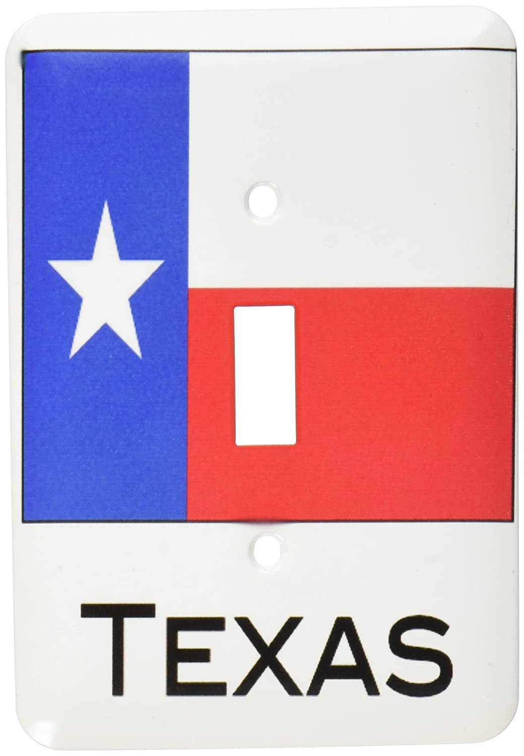 3dRose lsp_107393_1'Texas State Flag' Single Toggle Switch Multicolor