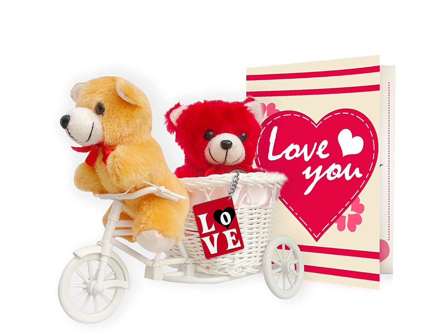 buy tiedribbons best day gifts gift combo love tri cycle key chain online at low prices in india amazonin
