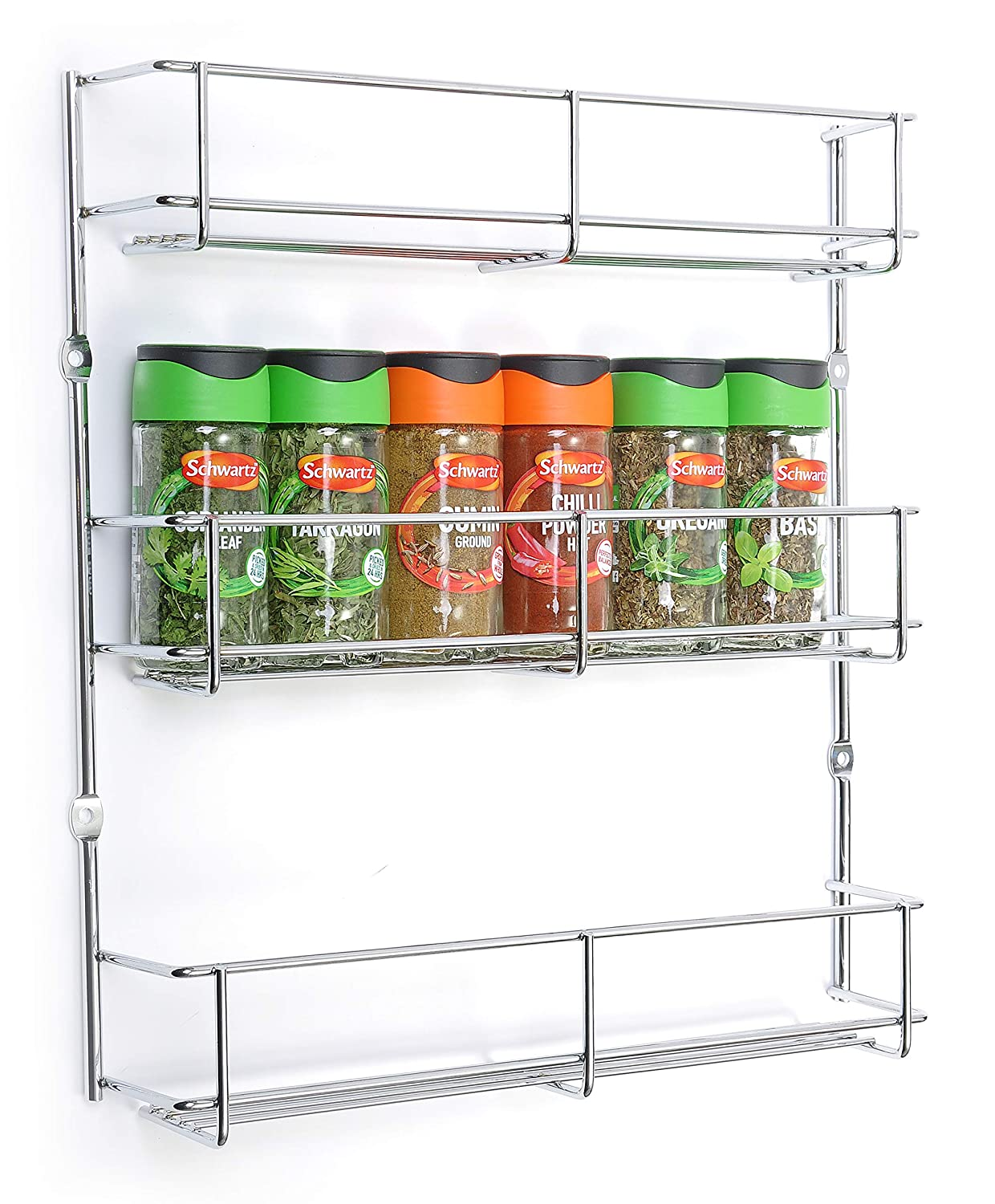300mm Wide 3 Tier Spice and Packet Rack BSM Marketing