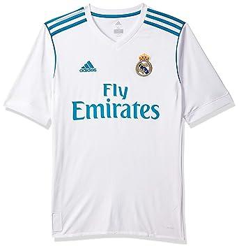 8d68a752c8226 adidas Real Madrid Domicile Maillot à Manches Courtes Garçon  Amazon ...