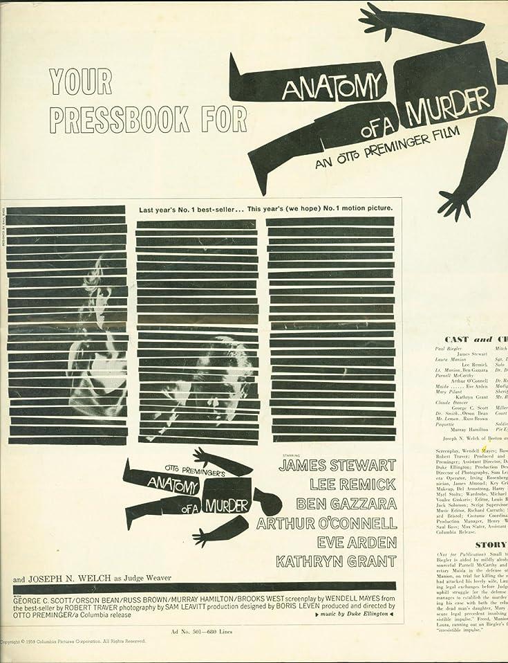 Anatomy of a Murder press book 1959 James Stewart, Lee Remick, Ben ...