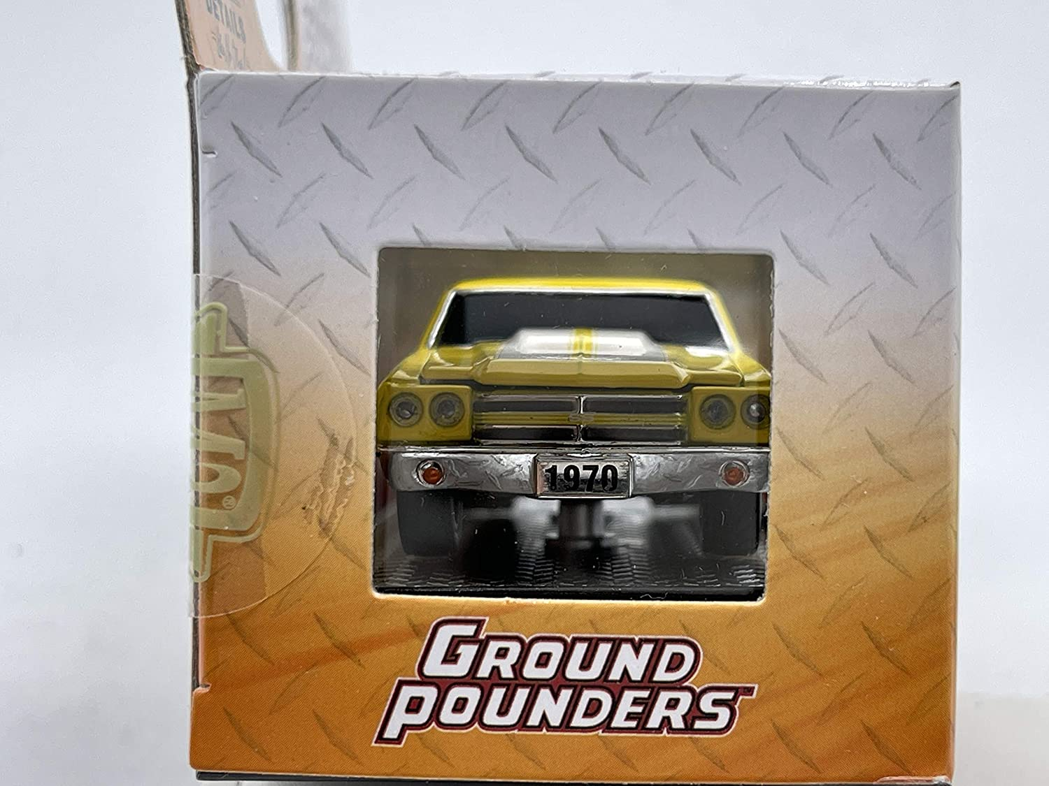 M2 Machines by M2 Collectible Ground Pounders 1970 Chevy El Camino SS 454 1:64 Scale R20 20-05 Yellow//White Details Like NO Other!