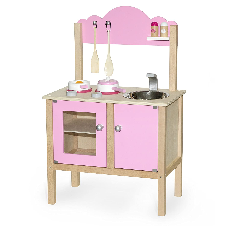Plum Cabin Wooden Play Kitchen Pink Lemonade Amazon Toys