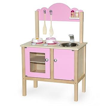 Vortigern - V51032 - Juguetes de Cocina - Cocina Rosa con Accesorios ...