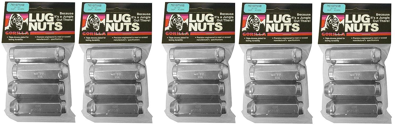 Gorilla Automotive 76197XXB Extra Extra Long Duplex Acorn Lug Nuts 9//16 Thread Size
