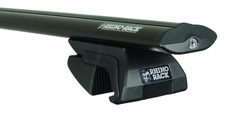 Rhino Rack 2-Bar Sportz Rail Mount Aero Bar Roof Rack System, Black, SXBS22 by Rhino Rack B00AK6XT16