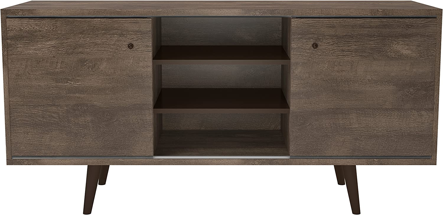 Midtown Concept Mid-Century 3-Shelf TV Stand (53