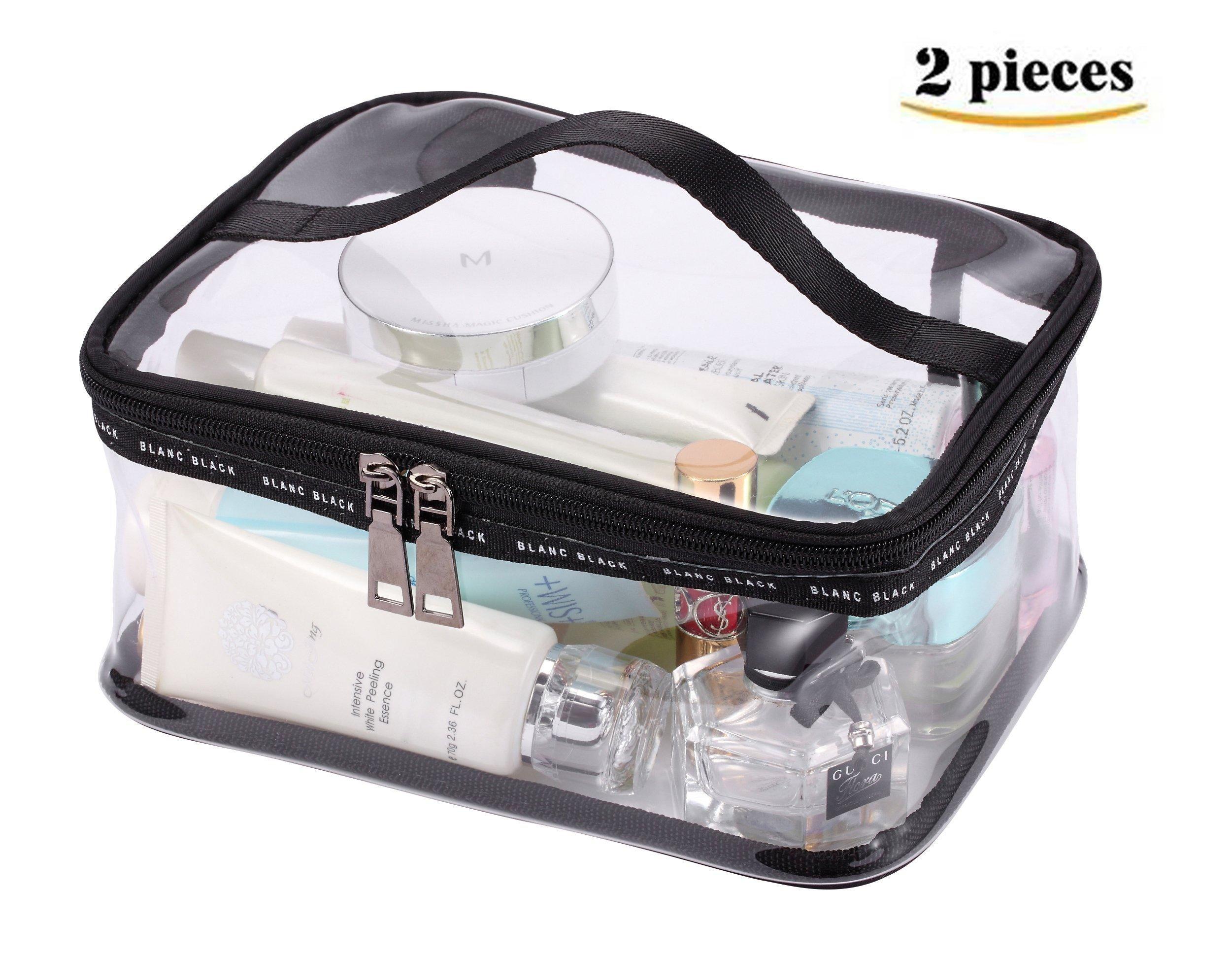 Amazon.com : Clear Toiletry Makeup Bags, PVC Plastic