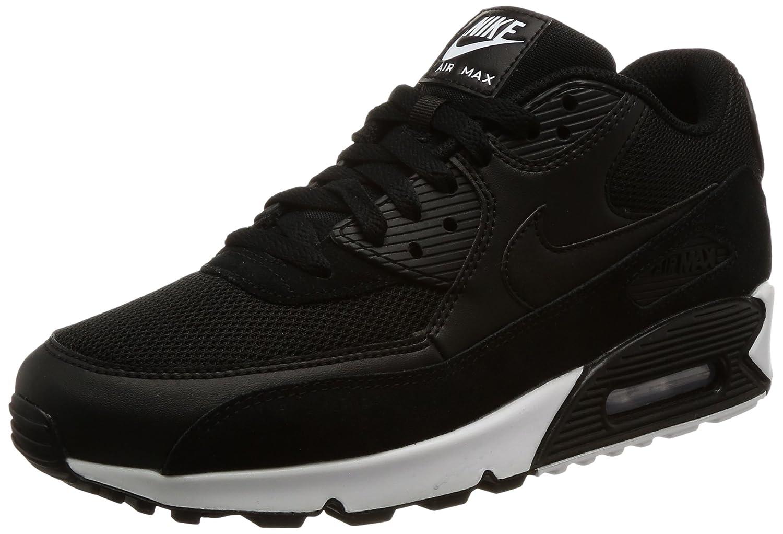 Nike Air Max 90 Essential, Zapatillas Hombre 42.5 EU|Negro (Black/Black/White 077)