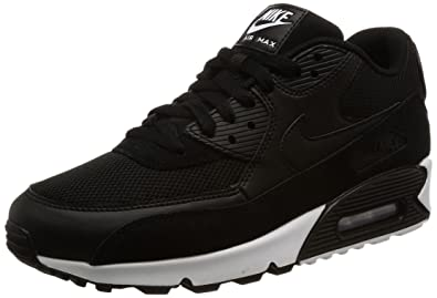 new arrival 5fb9e 049da Nike Air Max 90 Essential, Baskets Mode Homme, Noir Black-White, 40