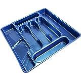 Bleu-couverts 7 compartiments en plastique pour tiroir ProdBuy Range
