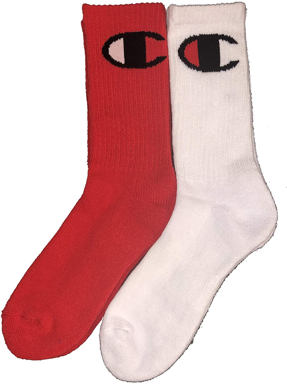 Champion Little /& Big Boys 2-Pk Logo Crew Socks