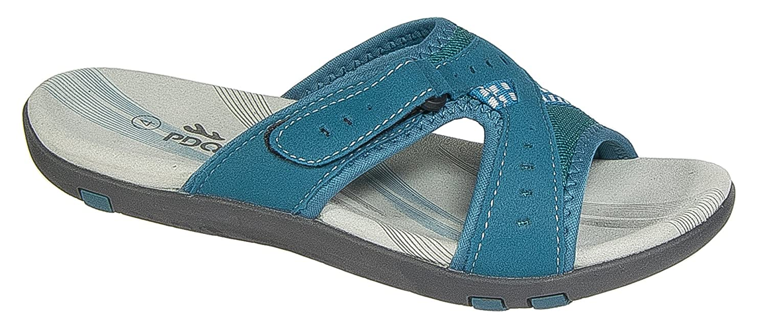 02ee1d1fa5a8 PDQ Womens Ladies Walking Mule Sandals Teal Blue Sports Adventure Slip on  (6)  Amazon.co.uk  Shoes   Bags