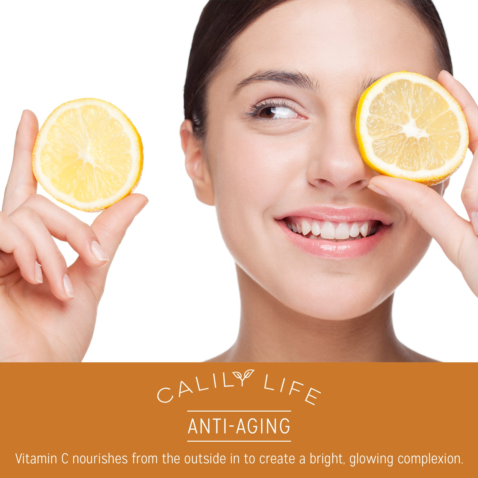 Calily Life Hyaluronic Acid Vitamin C Serum with Dead Sea Minerals, 1 Oz. – Contains Vitamins A, C, E, B5 and More - Restores Youthful Glow - Hydrates, Enrichens, Strengthens and Nourishes [ENHANCED]