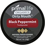 Dirty Mouth Tooth Powder Activated Charcoal Teeth Whitening, Teeth Whitener with Essential Oils and Bentonite Clay, 3 Month S